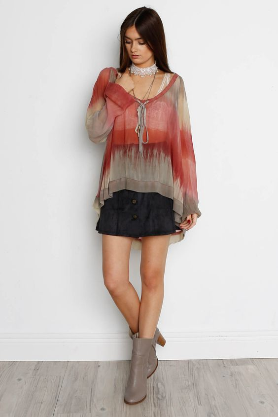 Gypsy Junkie Avery Tie Dye Top