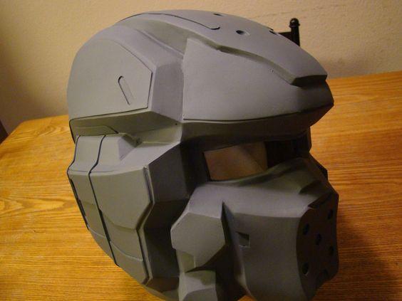 Halo 4 Spartan 4 helmet, progress photo by Hyperballistik ...