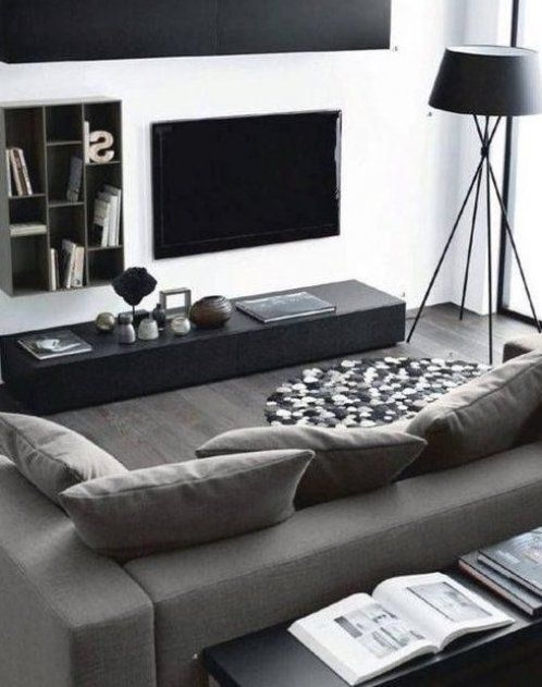 Living Room Interior Decorating For Men In 2020 Modern Apartment Living Room Living Room Decor Apartment Masculine Living Rooms #small #bachelor #pad #living #room #ideas