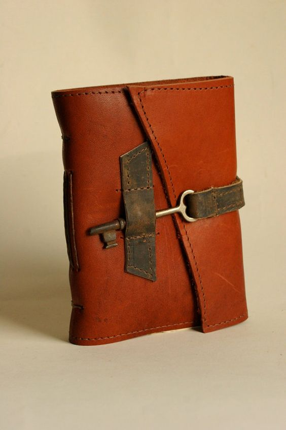 Red Leather Journal with Handmade Paper by Binding by bindingbee