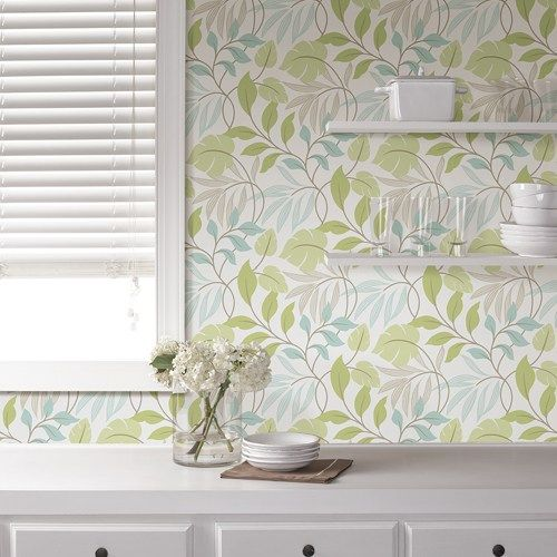 Blue And Green Meadow Peel And Stick Wallpaper Brewster Nuwallpaper 44 95 For 20 5 In X 18 Ft Long Nuwallpaper Peel And Stick Wallpaper Home Wallpaper