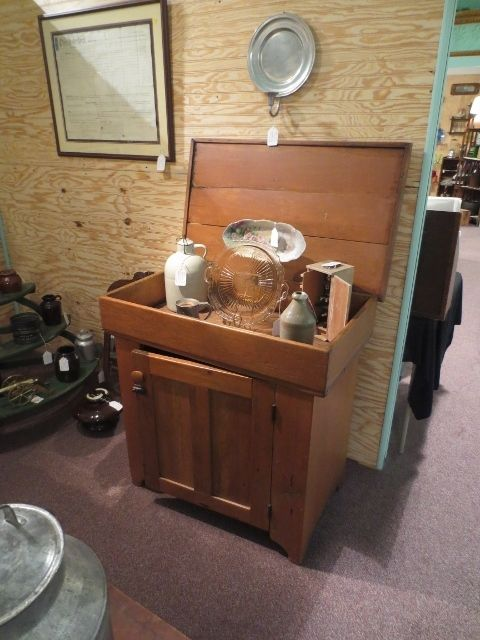Beautiful Antique Dry Sink w/Original Lid from statetheatre on Ruby Lane