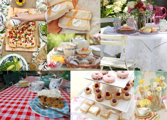 Summer Wedding Lunch Ideas : Inspiration board for a summer high tea luncheon wedding