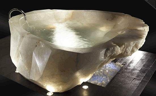 Rock crystal bathtub.