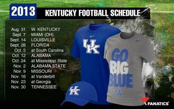 Football schedule 2013.