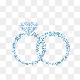 خاتم الماس الماس الأزرق الماس مسطحة خاتم الزواج Png و Vector Wedding Ring Clipart Wedding Ring Png Wedding Party Invites
