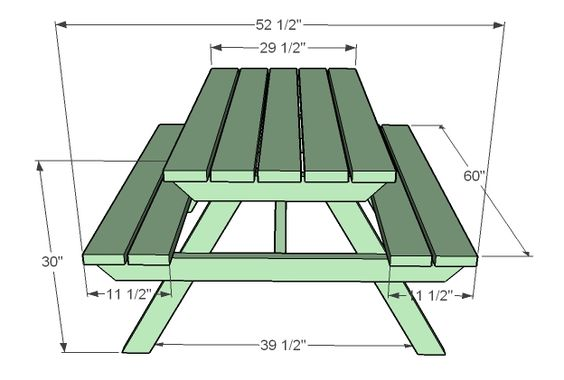 Ana White   Build a How to Build an Adult Picnic Table   Free and Easy DIY Project and Furniture Plans