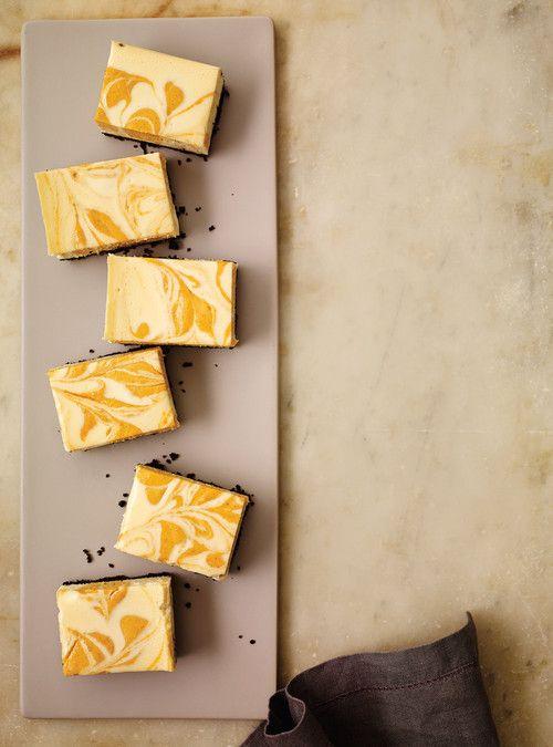 Carrés au fromage et à la citrouille