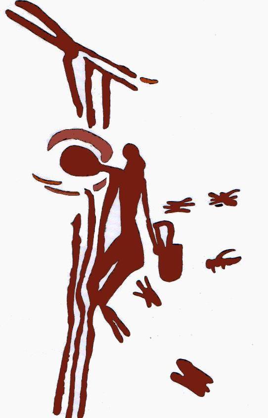 Pintura rupestre del mesolítico (8000 a 6000 a, C.), en la