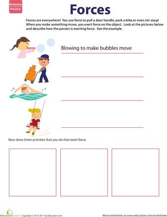 Printables Motion Worksheets second grade science worksheets and on pinterest week 16 newtons first law of motion learn about force