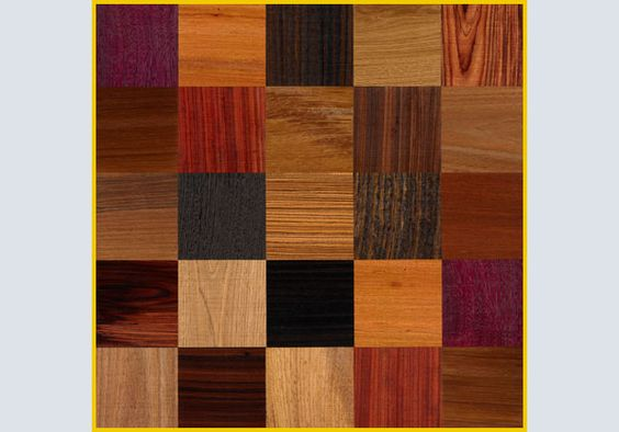 """""""Patchwork"""" is a parquet floor made of precious wood species which are joined by Quadrolegno crossing the veins in the wild."""