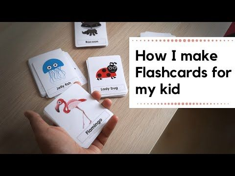 How To Make Flashcards For Kids At Home Diy Easy And Durable Cards Youtube Flashcards For Kids Flashcards Diy Preschool