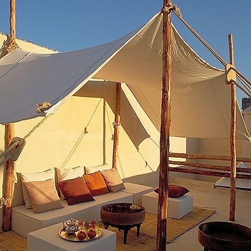 Roof terrace canvas tent branches awakened art gardens pinterest decks the roof and terrace - Terras tent ...