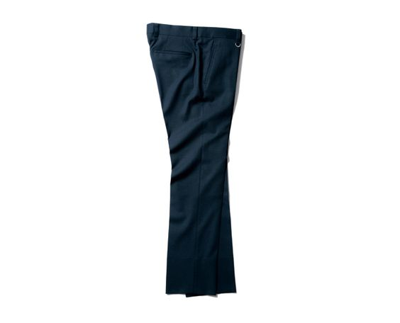 SOPHNET. SLIM-FIT STRETCH WOOL SLACKS