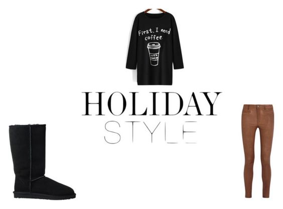 """""""Quick outfit"""" by jaylaspin ❤ liked on Polyvore featuring MiH Jeans, UGG Australia and coffee"""