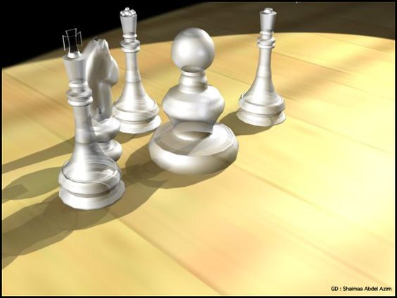 Drawing the shape of Chess and Modeling it