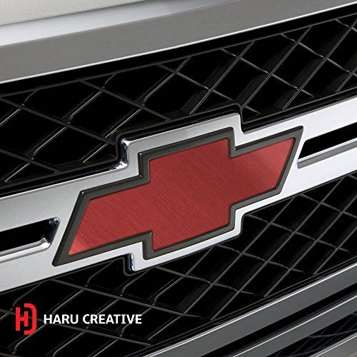 Haru Creative Brushed Aluminum Red Chevy Emblem Overlay Sticker Kit 2 Large Rolls 7 5 Sticker Kits Overlays Brushed Aluminum
