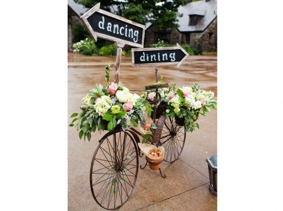 Panneau bicyclette deco mariage champetre campagne mariage pinterest ch - Deco buffet champetre ...