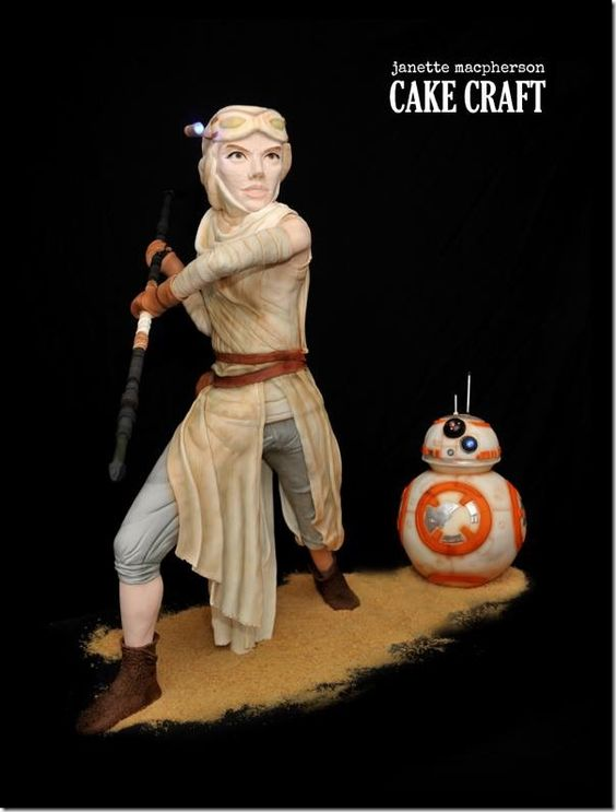 Stunning Rey and BB-8 Cake made by Janette MacPherson Cake Craft: