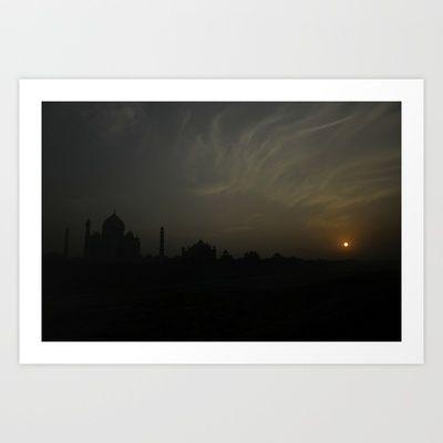 Taj by night Art Print by nandagopal rajan - $22.88