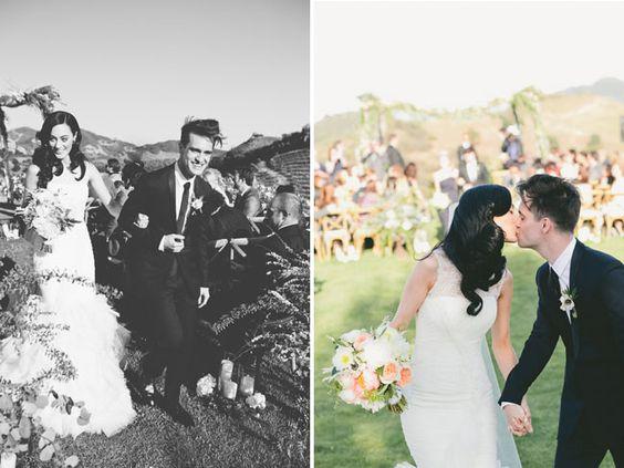 Glamorous Malibu Wedding: Sarah + Brendon Urie | Green ...