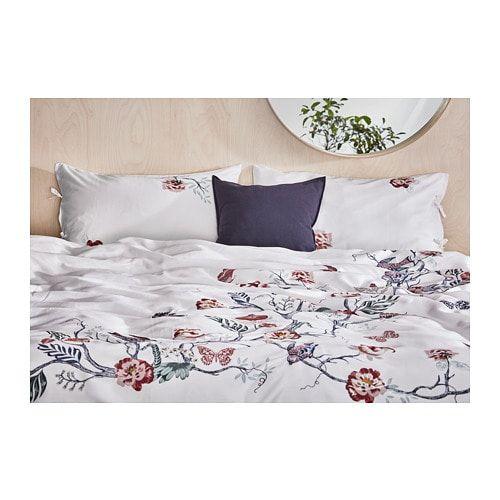 Jattelilja Duvet Cover And Pillowcase S White Floral Patterned Twin Ikea Duvet Cover Master Bedroom Duvet Covers Luxury Bedding Sets