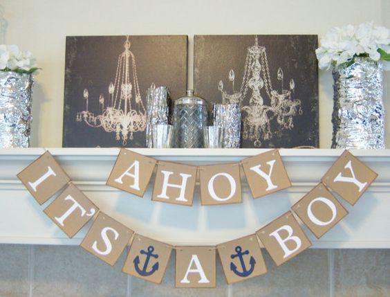 Etsy Ahoy It's a Boy banner sign