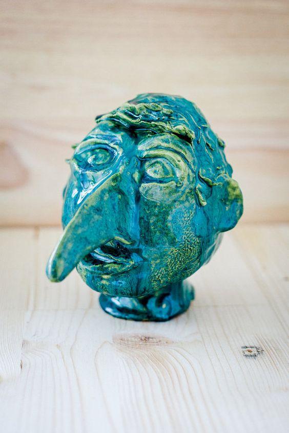 Kopf Fantasie Skulptur von BogArtKunst auf Etsy