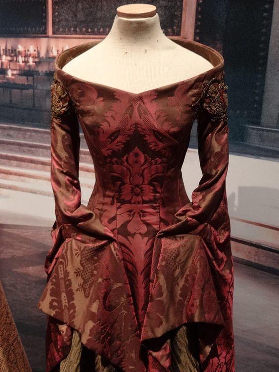 of the dress purpl...