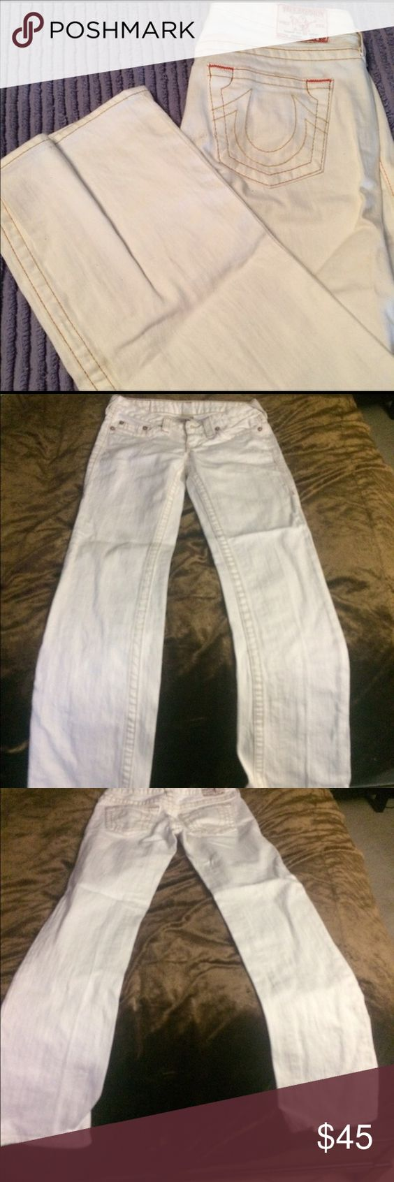 White True Religion Jeans White straight leg boot cut True Religion jeans. No stains. Great condition True Religion Jeans Boot Cut