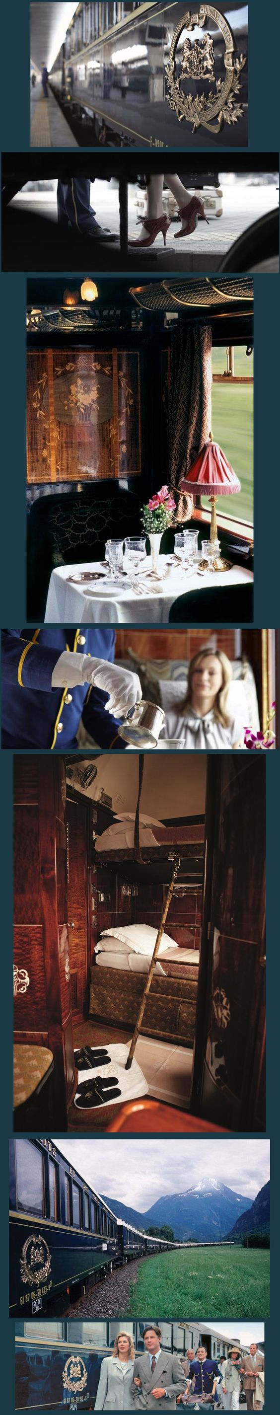 """Venice Simplon-Orient-Express, """"Rich in history & draped in elegance, the legendary Venice Simplon-Orient-Express  """"The train against which all other luxury trains are measured"""" -Vanity Fair"""