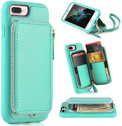 Top 10 Best Iphone 8 Plus Wallet Cases In 2021 Reviews Amaperfect Wallet Phone Case Iphone Iphone 6 Wallet Case Leather Wallet