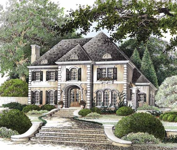Eplans french country house plan elegantly european for Eplan house plans
