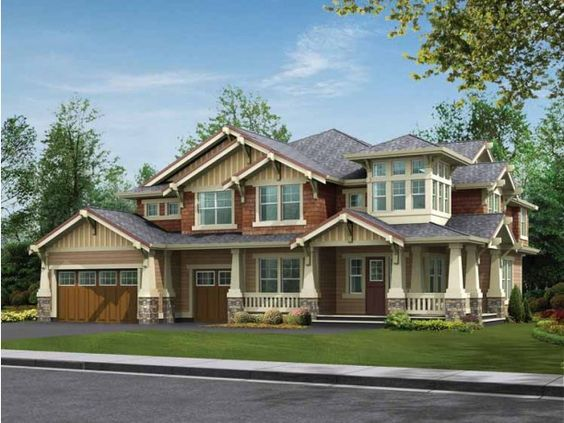 "Craftsman home - like the windowed ""tower"" loft and rotunda design"
