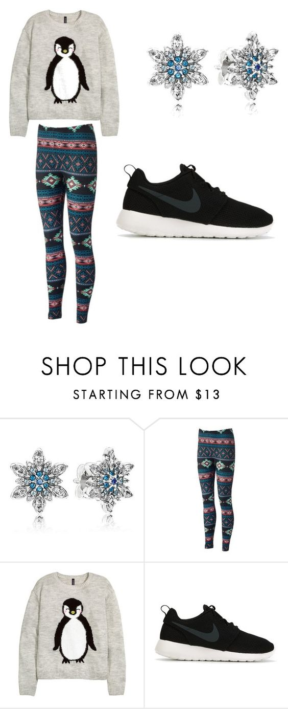 """not my best"" by badwitch-69 on Polyvore featuring Pandora, H&M and NIKE"