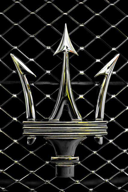 Maserati's iconic trident emblem