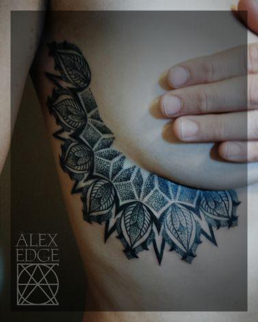 alex edge tattoos, alex edge, Mandala tattoo, dotwork tattoo, dotwork , Alex Edge, alexedgetattoos, sideboob, side boob tattoo