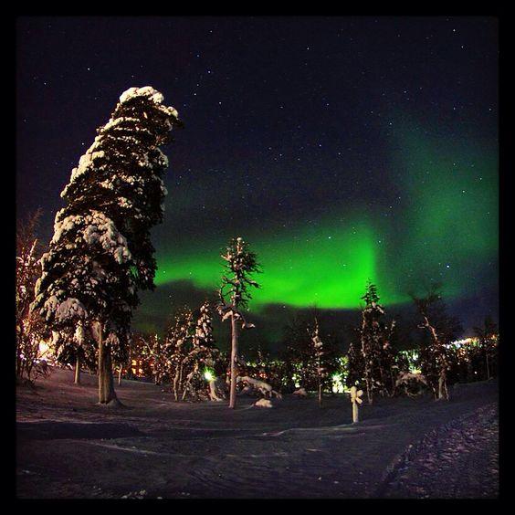 Aurora borealis, saariselkä Lapland February 8th 2015