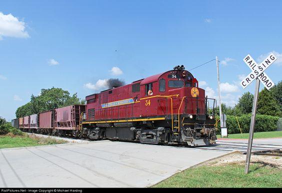 RailPictures.Net Photo: AM 34 Arkansas & Missouri Railroad Alco C424 at Rogers, Arkansas by Michael Harding
