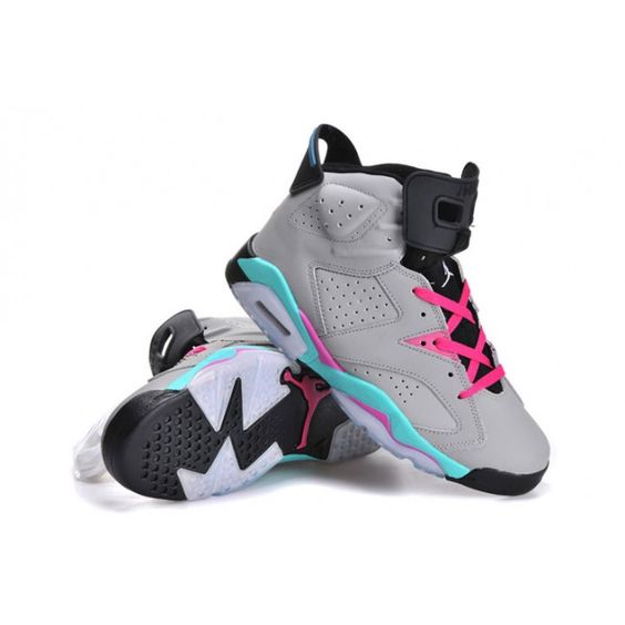 Nike AIR JORDAN 6 SOUTH BEACH Grey Basketball Sneakers For Women · Cheap  Jordans For SaleJordan ...