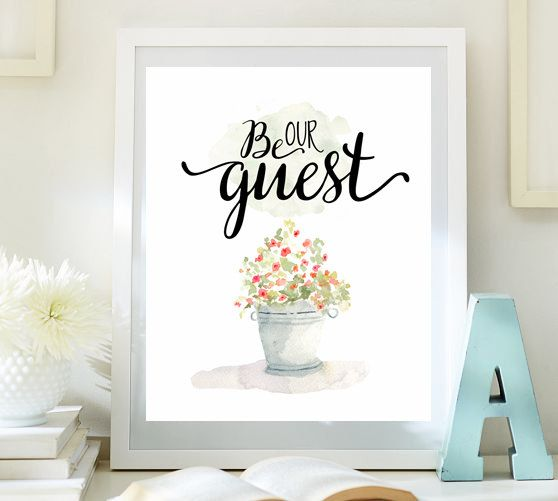 Be our guest print guest room decor wedding table sign housewarming print entrance wall art for Inspirational wall art for bedroom