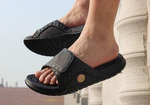 Cheap Air Jordan Hydro 13 Black Cat Sandals Cheaplebronshoes Air Jordans Air Jordan Shoes Jordan Shoes For Sale