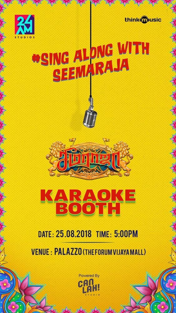 Sing along with Seemaraja Karaoke Booth