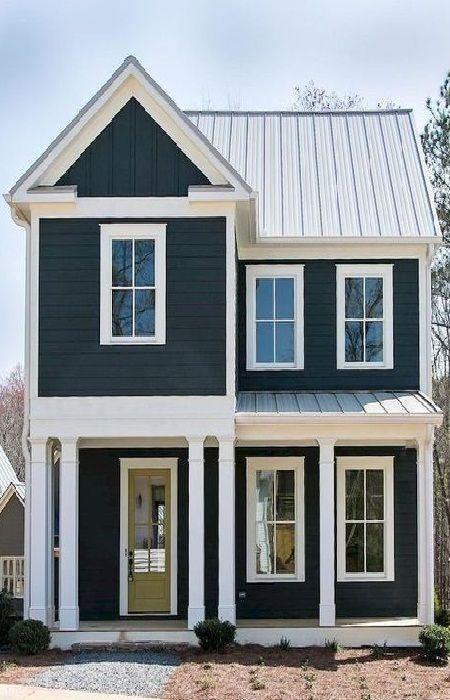 Most Popular Exterior Paint Colors 2019 Modern Farmhouse Exterior Black House Exterior Farmhouse Exterior Colors