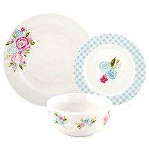 Image result for Candy Rose 12 Piece Dinner Set