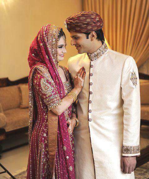 stylish pakistani wedding dresses bride bridegroom pakistani