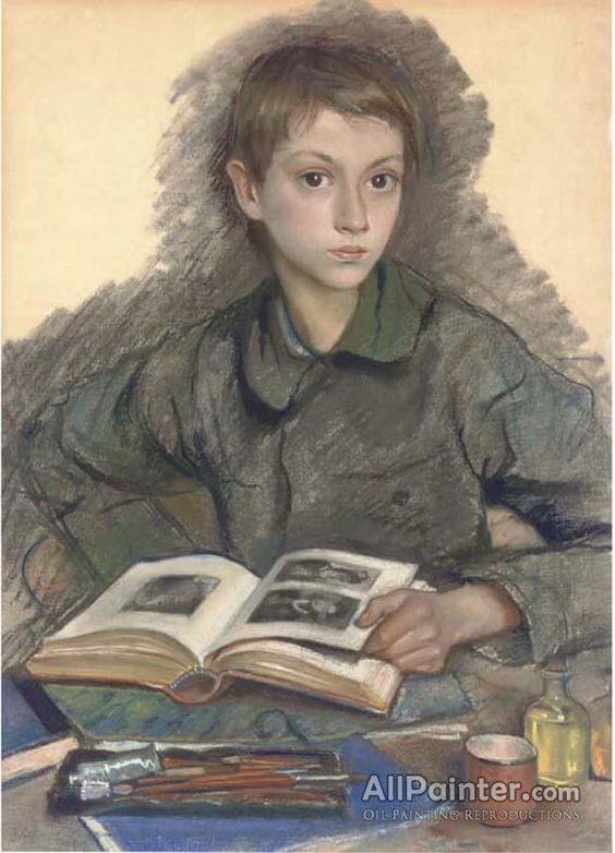 Zinaida Evgenievna Serebriakova Portrait Of Alexander Serebriakov Oil Painting Reproductions for sale