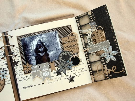 Album mise en page and tes on pinterest - Idee scrapbooking album photo ...
