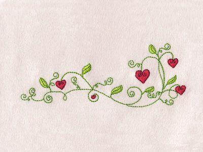 Valentine Flowers Borders Machine Embroidery Designs  http://www.designsbysick.com/details/valentineflowersborders