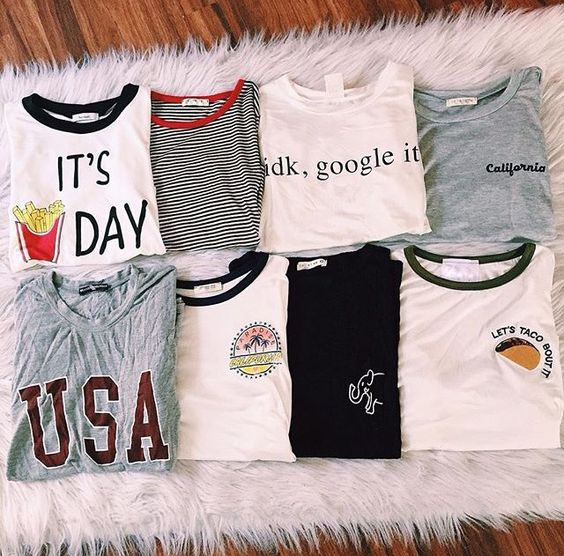 I have a whole board of these u already get the idea but if u don't I WANT ALL OF THE BRANDY MELVILLE GRAPHIC TEES FOR MY BDAY!!!